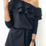 Платье с пышным воланом Лилит