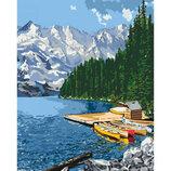Картина По Номерам Идейка. Сельский Пейзаж ГОРНОЕ Озеро 40 50СМ KHO2223