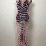 Пляжное платье-сетка с пайетками от the box