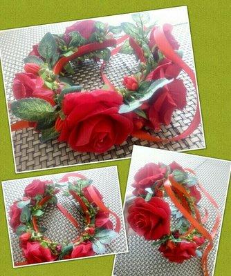 Шикарный венок из роз
