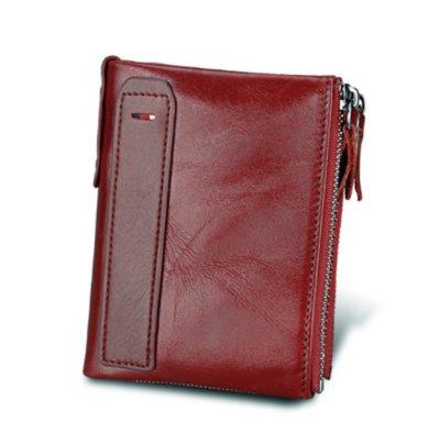 Кожаный стильный мужской кошелек черный, коричневый, красный натуральная кожа