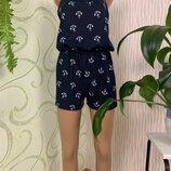 Женский летний комбинезон с шортамми размеры 40-50