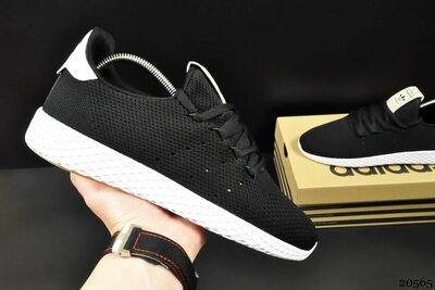 Кроссовки сетка Adidas Pharrell Williams black/white