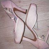 Туфли женские пудровые tamaris размер 37