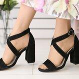 Женские босоножки на каблуке, каблук 9,8см
