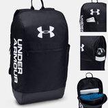 Рюкзак Under Armour UA Patterson Backpack Black Оригинал Городской Чёрный