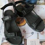 Ecco Супер Женские сандалии в стиле Экко летние из натуральной кожи босоножки черного цвета