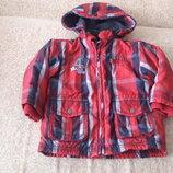 Фирменная зимняя куртка 92см