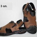 Сандалии мужские ClubShoes C - 3 натуральная кожа оливковые
