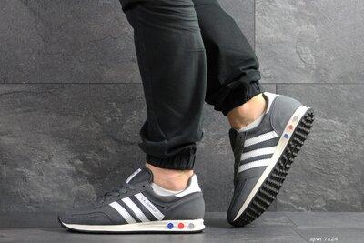 Adidas La Trainer кроссовки мужские демисезонные серые 7824