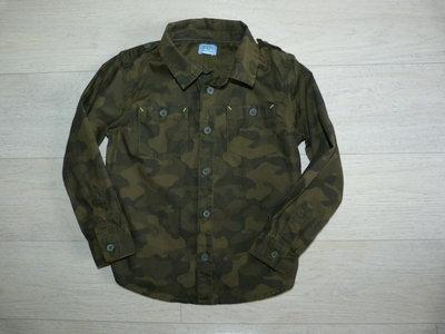 Камуфляжная рубашка F&F 3-4 года