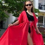 Пляжный халат для девочки 128-156рр
