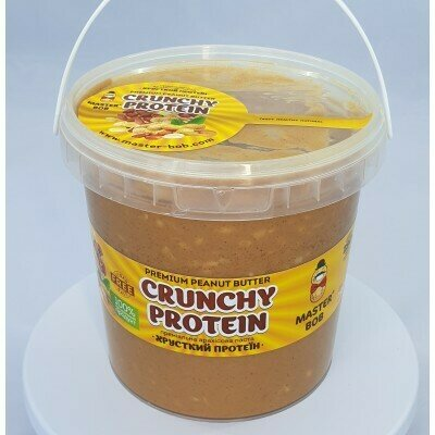 Арахисовая паста Хрустящий протеин премиальная, без сахара и соли