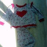 Хлопковая пижама рюши