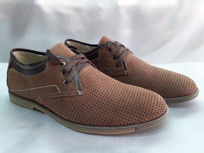 Распродажа Комфортные летние песочные туфли из нубука Madoks 40,41,42,43р.
