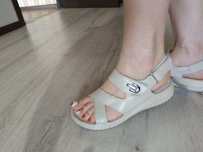 Женские босоножки из натуральной кожи женские сандалии можно на широкую ногу Р. 36-42