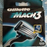 Сменные картриджи для бритья Gillette Mach 3, 8 шт/уп.