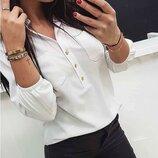 Легкая женская блузка блуза нарядная размеры 42-52