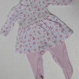 Matalan. Нежнейшее платье человечек для младенца. 0-3 месяцев.