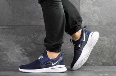 Nike Renew Rival кроссовки мужские демисезонные темно синие с белым 7831