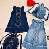 Платье джинсовое для девочки Moonstar Турция