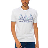 Мужская футболка белая Lc Waikiki / Лс Вайкики с надписью Classic Yacht Regatta