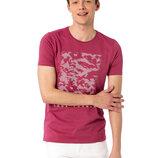 Мужская футболка розовая Lc Waikiki / Лс Вайкики с надписью LOOK FORWARD
