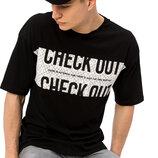 Мужская футболка черная Lc Waikiki / Лс Вайкики с надписью CHECK OUT
