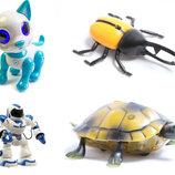 Огромный выбор интерактивных игрушек на пульте черепаха жук динозавр сколопендра щенок собака робот