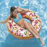 Надувной круг для плавания Intex «Пончик с присыпкой»