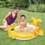Бассейн 57111 Золотая Рыбка. Дитячий надувний басейн Intex. Бассейн детский надувной.