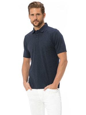 Мужское поло серое LC Waikiki / Лс Вайкики с серыми пуговицами и карманом на груди