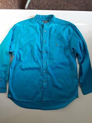 Фирменная яркая хлопковая рубашка L
