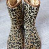 Сапожки угги зимние леопардовые ICE