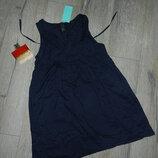 36/XS H&M синее платье, сарафан, пляжная туника, хлопок новый