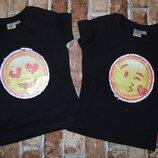 футболки новые перевертыши Смайлики 2-5 лет большой выбор одежды