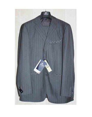 Элитный костюм 100% шерсть серый полоска Emporio Armani Италия,оригинал 50/52р Новый
