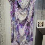 50/5XL/58 Невероятное цветочное платье туника с брючками большого размера Marks & Spencer 222 грн