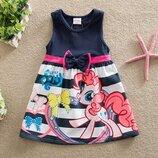 Милое нарядное детское платье с пони, my little pony, на 3-5 года, новое