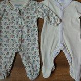 Комплект набор человечков человечек на 0-1 мес для новорожденных маловесных и недоношенных детей