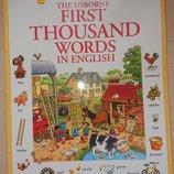 First 1000 words in English - книга на английском языке для детей Usborne