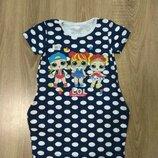 Платье для девочек с куклой Лол 2-8 лет