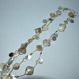 очень красивое ожерелье перламутр вставки чешское стекло винтаж