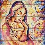 Картина по номерам по дереву. Щастье материнства ASW034