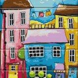 Картина по номерам по дереву. Разноцветная улица ASW024