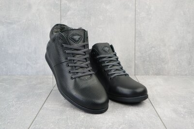 Ботинки мужские Milord Olimp черные натуральная кожа, зима