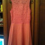 Новое красивое хлопковое платье с ажурной спинкой,размер 134/140