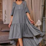 женское летнее свободное платье асимметрия 1160
