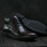 Ботинки L-Style 3589 зима, мужские, натуральная кожа, коричневый