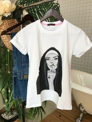 17774ace641 Стильные футболки с модным принтом Мк-644  460 грн - футболки